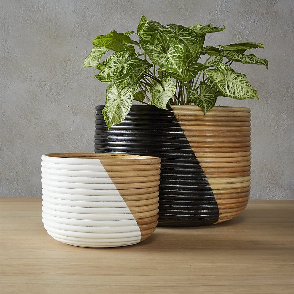 Basket planters from CB2