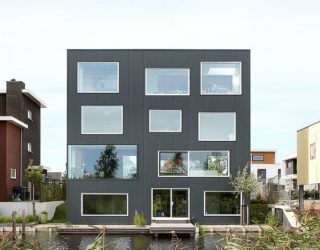 Abstract and Industrial Dutch Home Captivates with Picture-Perfect Views