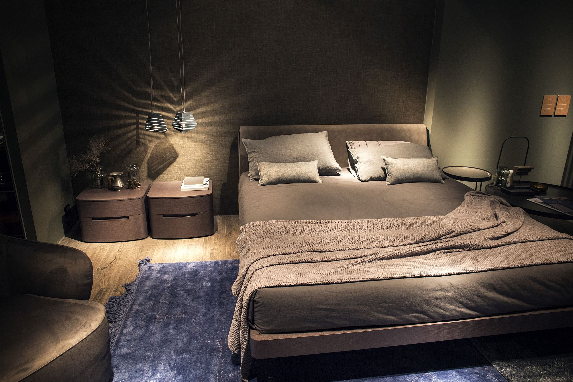 Bedside pendants free up space while providing more even illumination