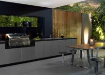 Black-and-gray-outdoor-kitchen-with-a-dark-and-mature-decor--217x155
