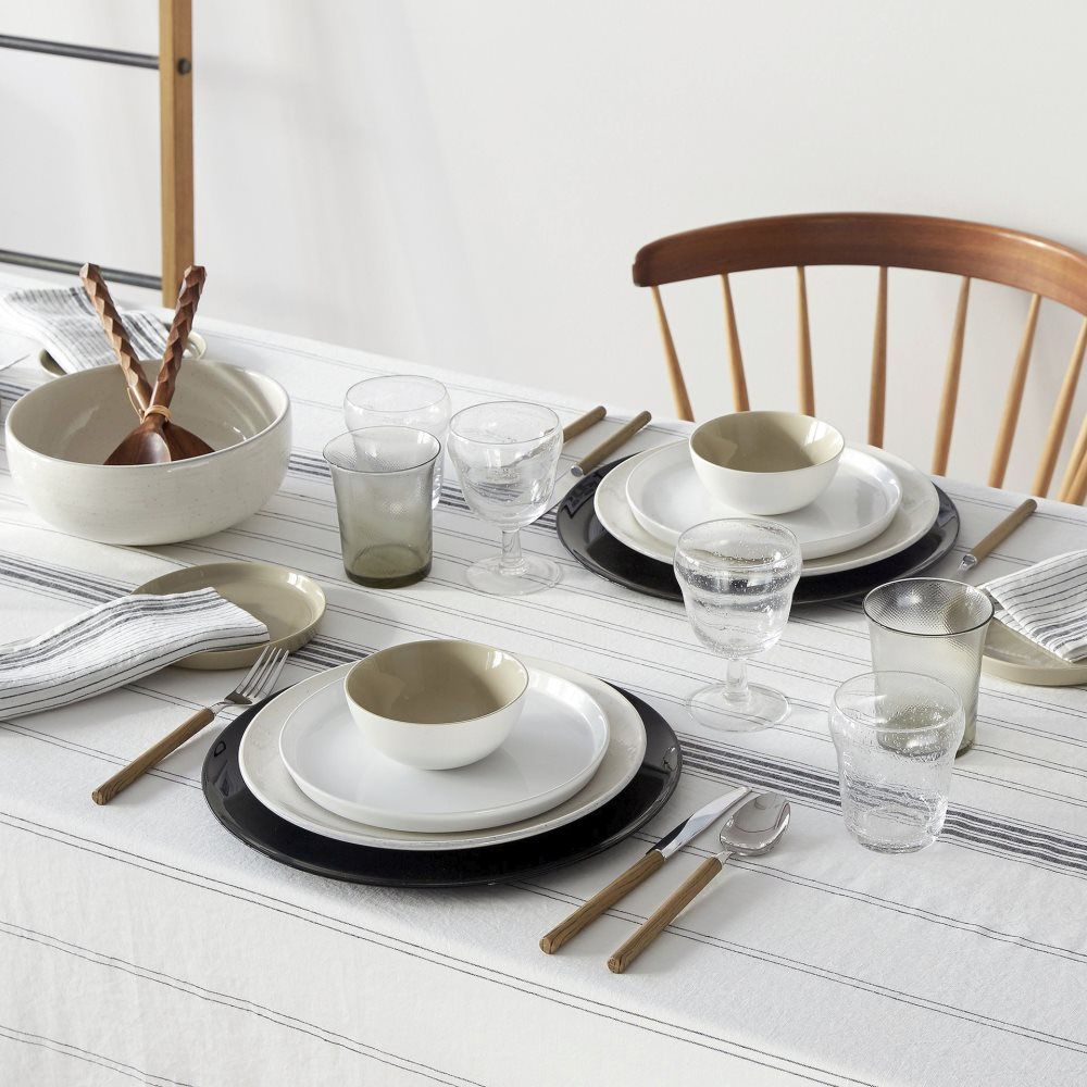 Black and white table vignette from Zara Home