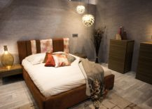Burnt orange brings color and glamor to the modern bedroom with innovative lighting 217x155 Trend Spotting: A Splash of Orange Adds Spunk to Your Home!