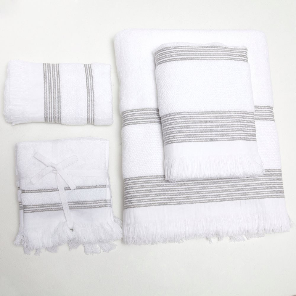 Cotton towels with a border
