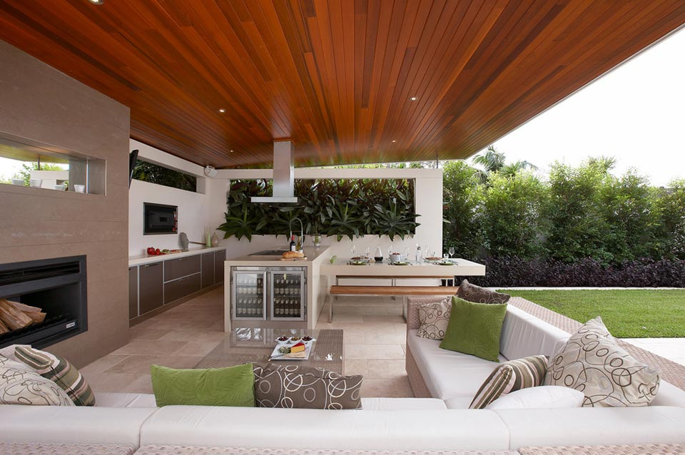 30 fresh and modern outdoor kitchens for Outdoor kitchen designs australia