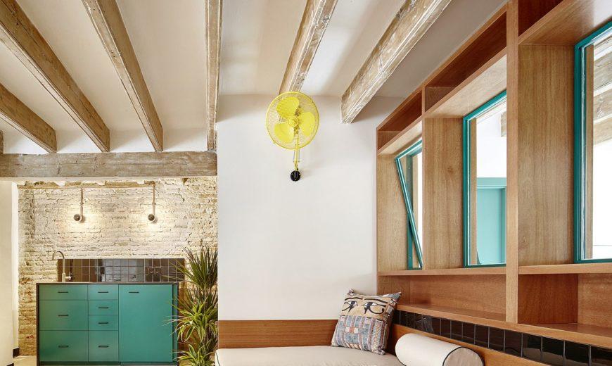 Globetrotting Entrepreneur's Home in Barcelona Carved out of Old Workshop