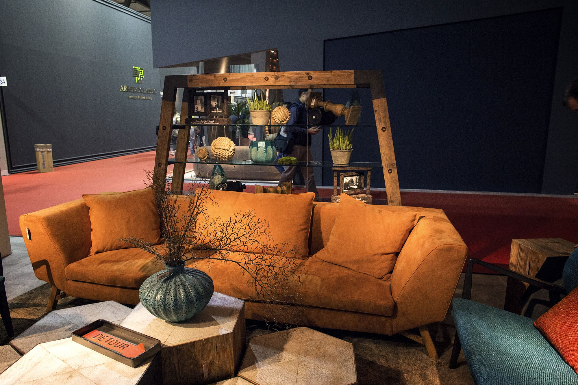 Decor in burnt orange and with matte finish feels far less overwhelming