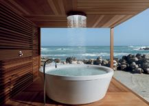 Exceptional-outdoor-shower-decorated-with-sleek-polished-wood-217x155