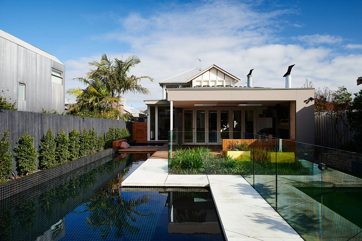 Expansive pool area of the modern Aussie home