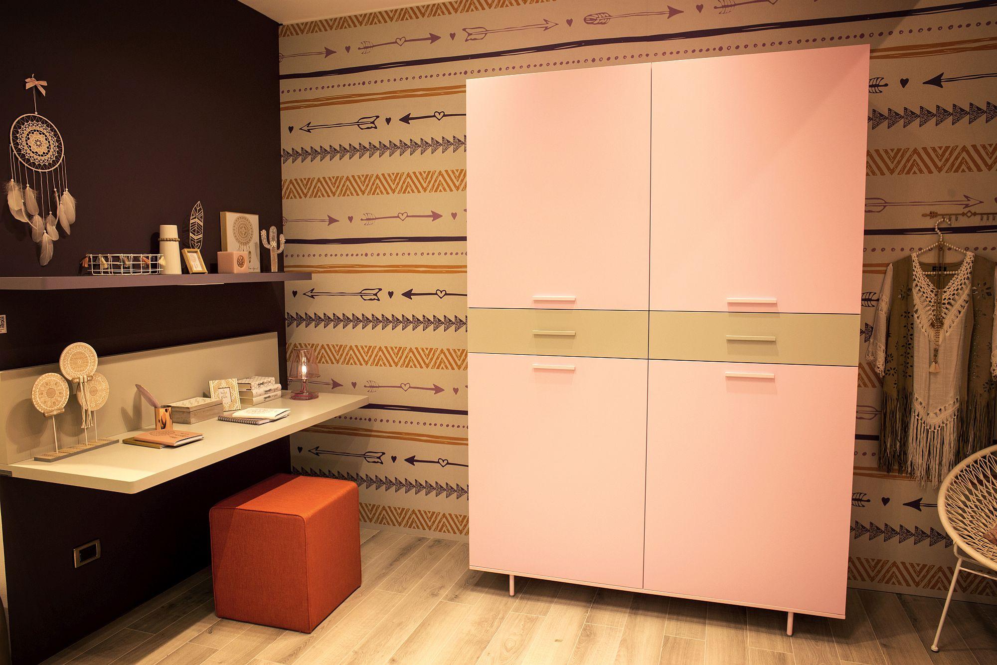 Exquisite pastel pink cupboard for modern kids room