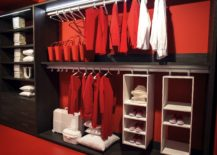 Exqusite open closet from Erba is a contemporary showstopper 217x155 An Organized Wardrobe: 15 Space Savvy and Stylish Closet Ideas