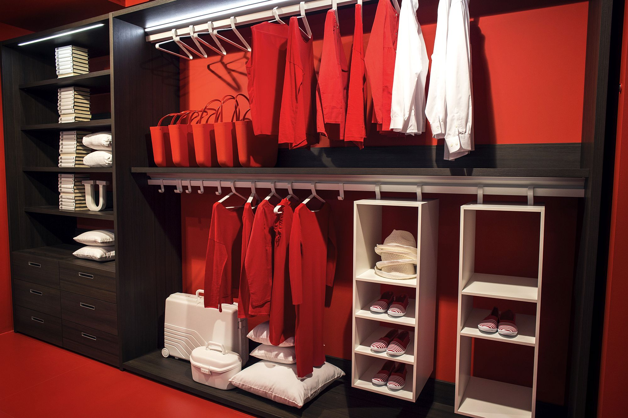 Exquisite open closet from Erba is a contemporary showstopper