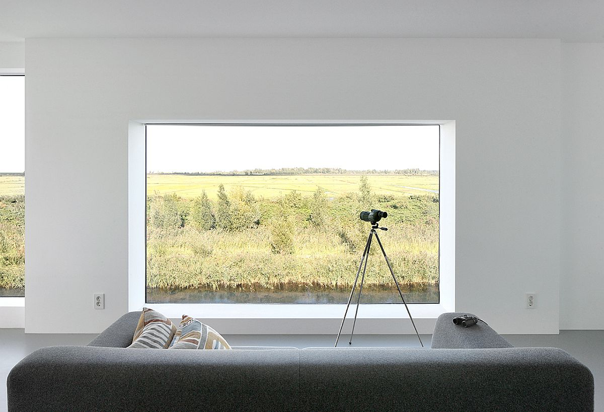 Extra deep window sills give an impression of sitting within the view!