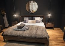 Fabulous-bedroom-in-gray-with-sparkling-bedside-pendant-217x155