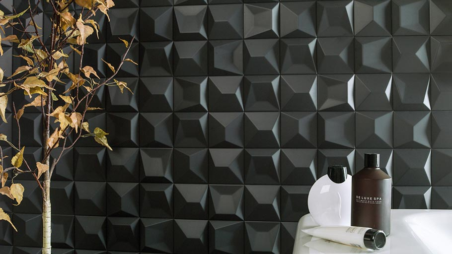 Faces collection – geometrical wall tiles with great volume