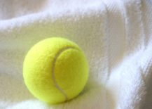 Fluff towels with a tennis ball 217x155 The Secret to Soft, Fluffy Towels