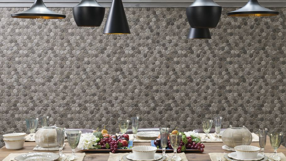 Geometric wall tiles the Forest Collection by Porcelanosa