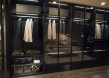 Glass doors for the large bedroom wardrobe are for those who are organized 217x155 An Organized Wardrobe: 15 Space Savvy and Stylish Closet Ideas
