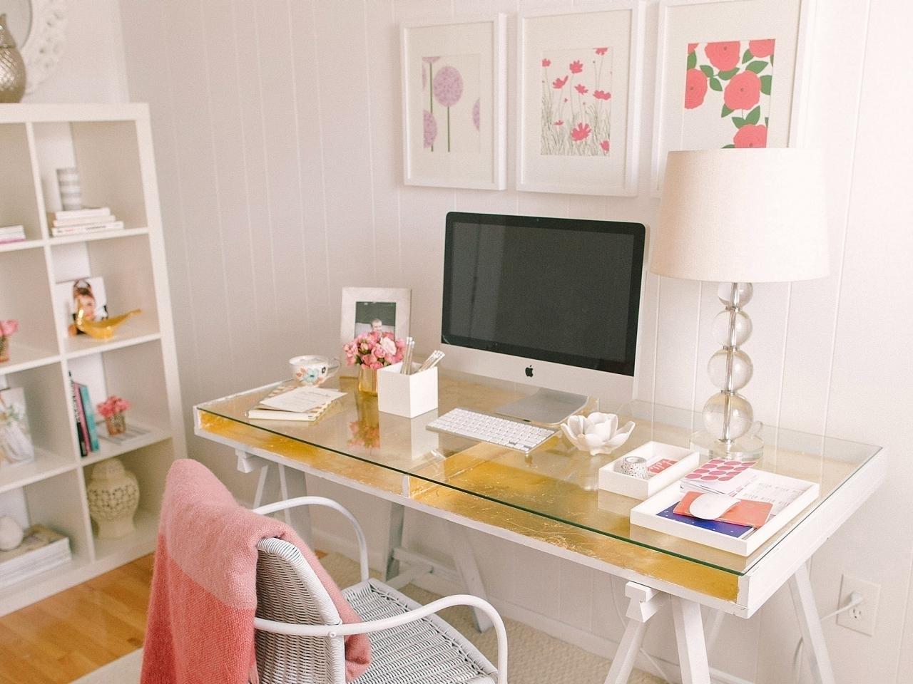 Golden desk represents luxury and high standards