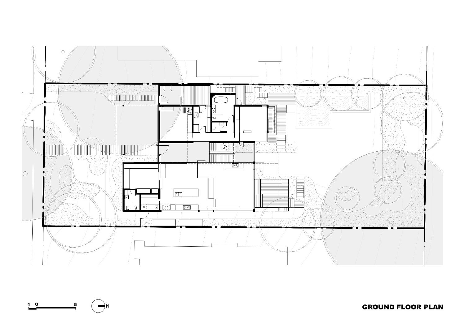 Ground floor plan of the Melbourne home