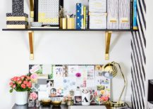 Home-office-with-glossy-gold-decor-elements--217x155