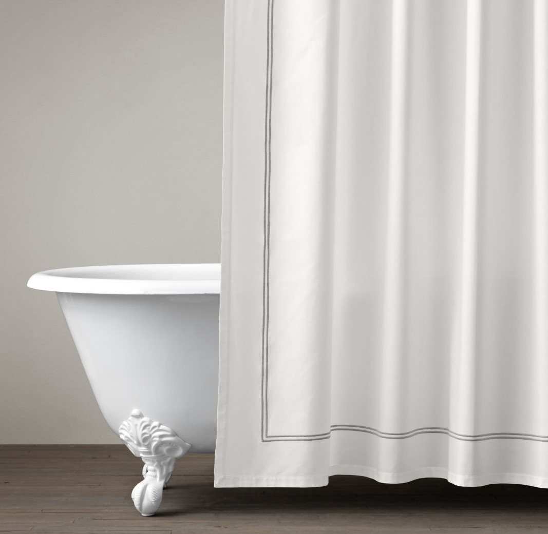 Hotel-style shower curtain