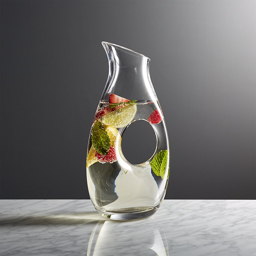 Infuse water with fresh fruit and herbs