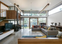 Light filled split level interior of the Aussie home 217x155 Trail House: Multi Level Green Home in Melbourne's Suburb