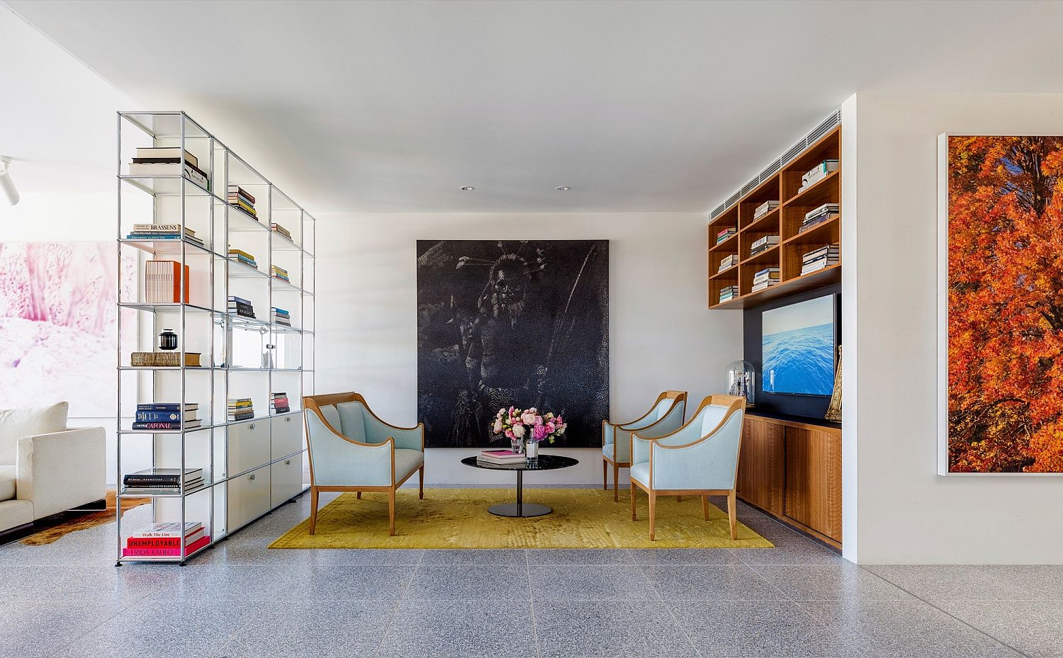 Living room of the home at Bondi Beach in Sydney