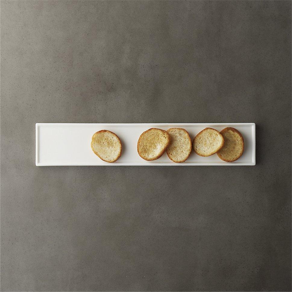 Long-and-narrow-rectangular-platter