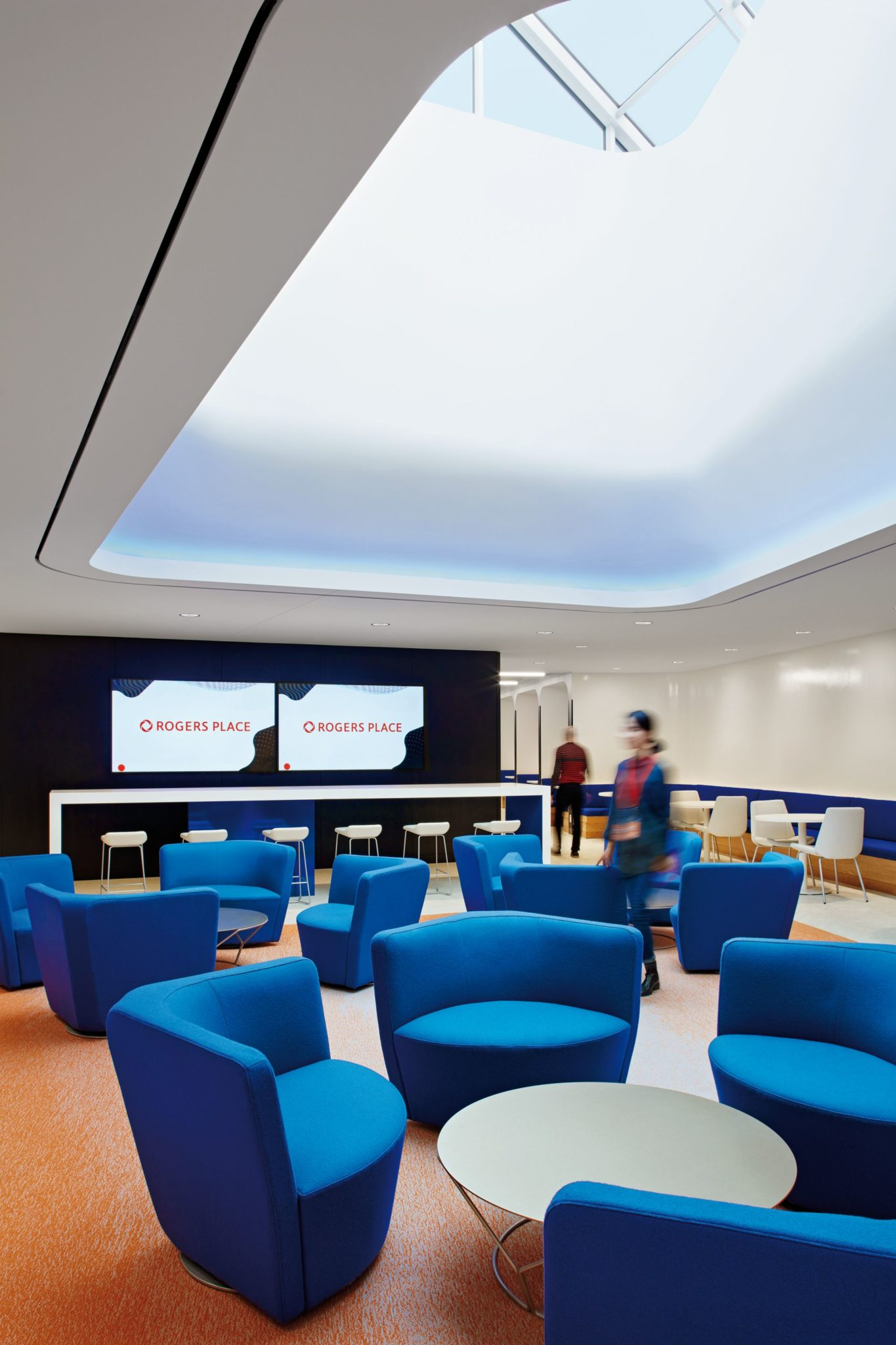 Lunch room encourages interaction between employees
