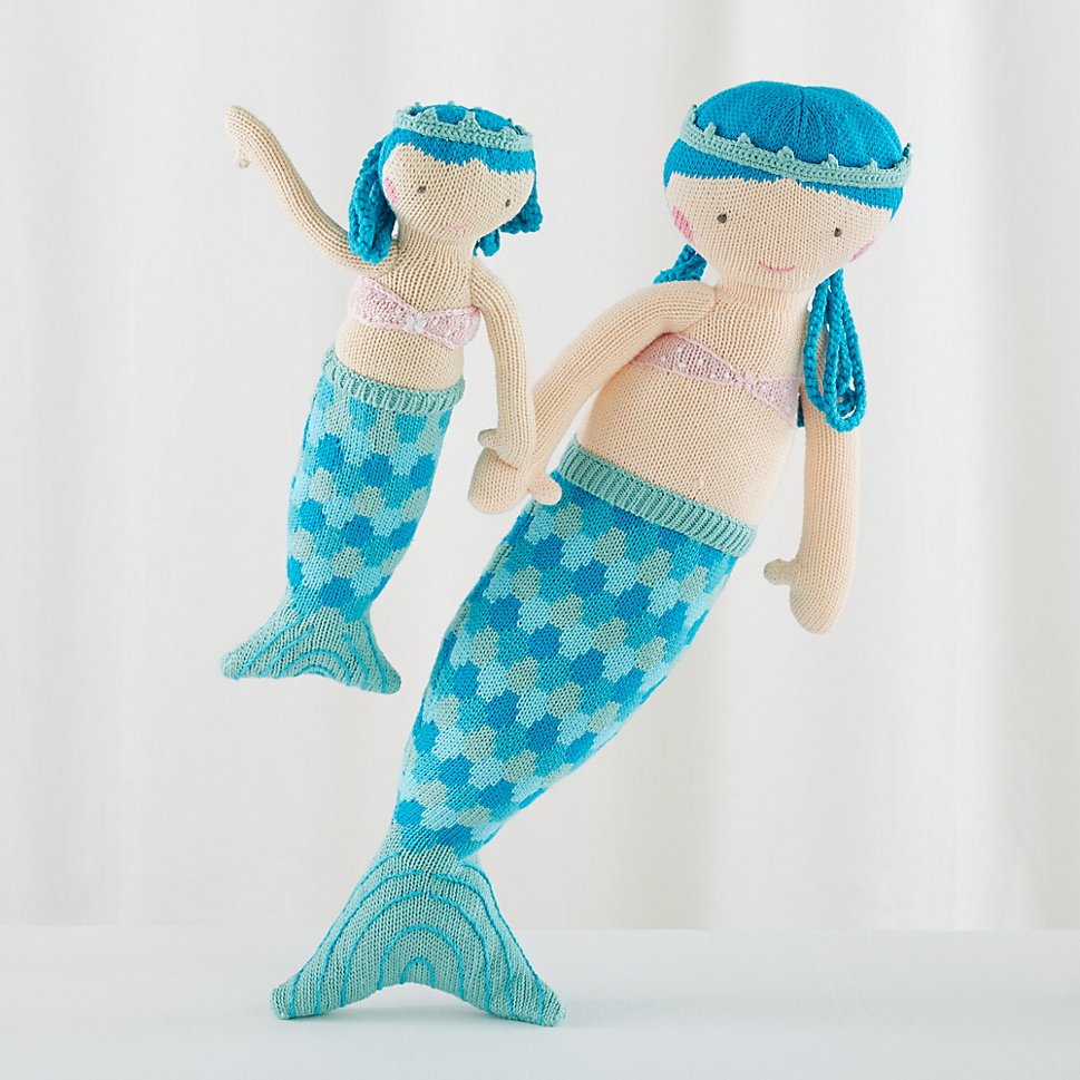 Mermaid dolls from The Land of Nod