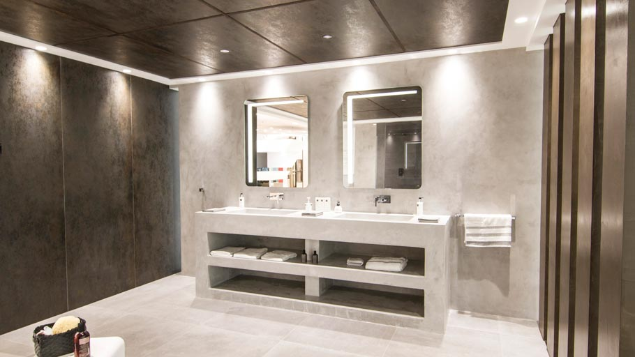 Micro-Stuk continuous wall tile by Butech