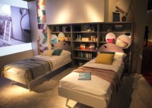 Modest-kids-bedroom-with-twin-beds-and-ample-shelf-space-217x155