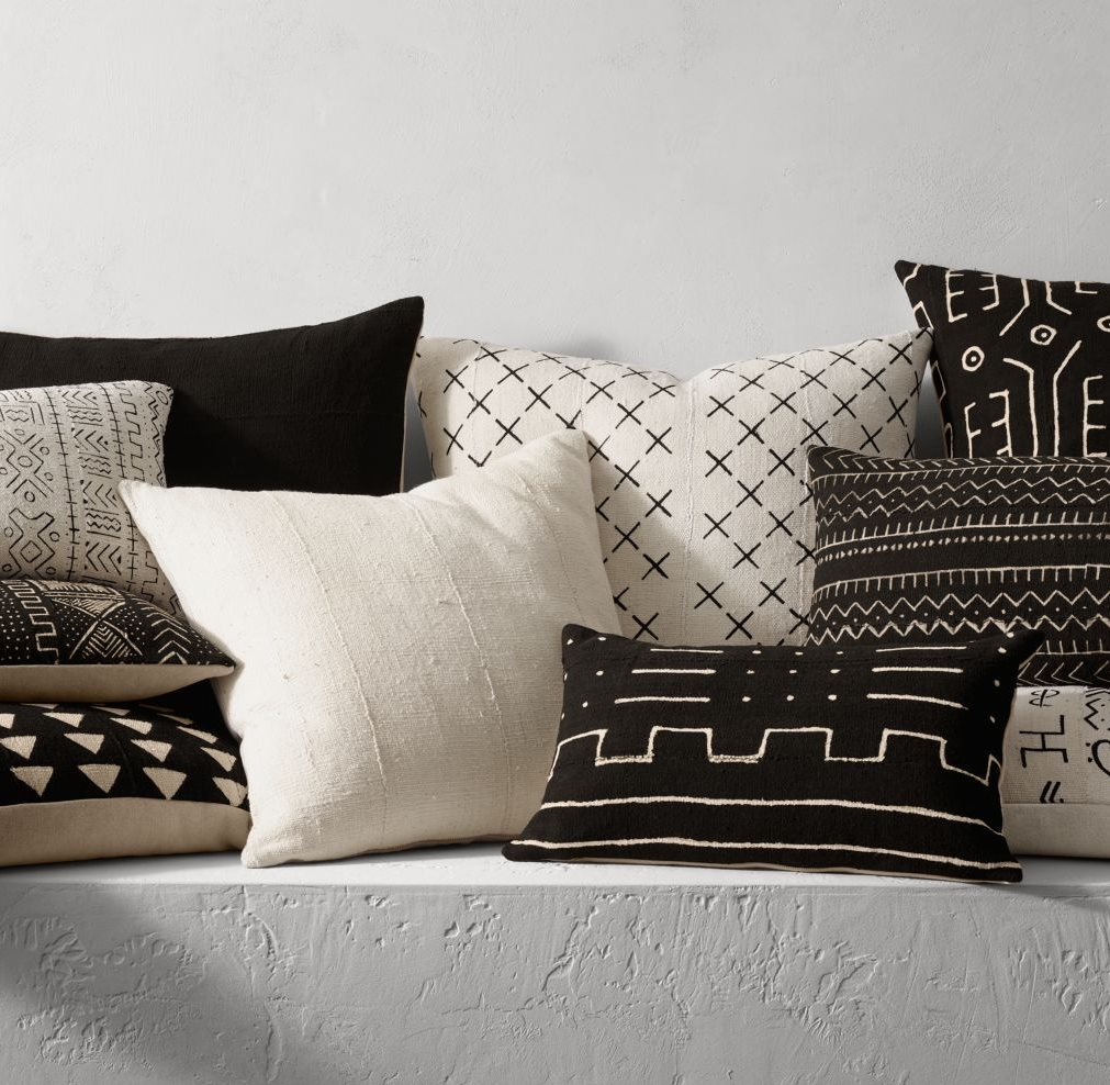 Mud-cloth-pillows-from-Restoration-Hardware