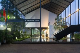 Industrial and Eco-Friendly: Inventive Green Office in Vietnam