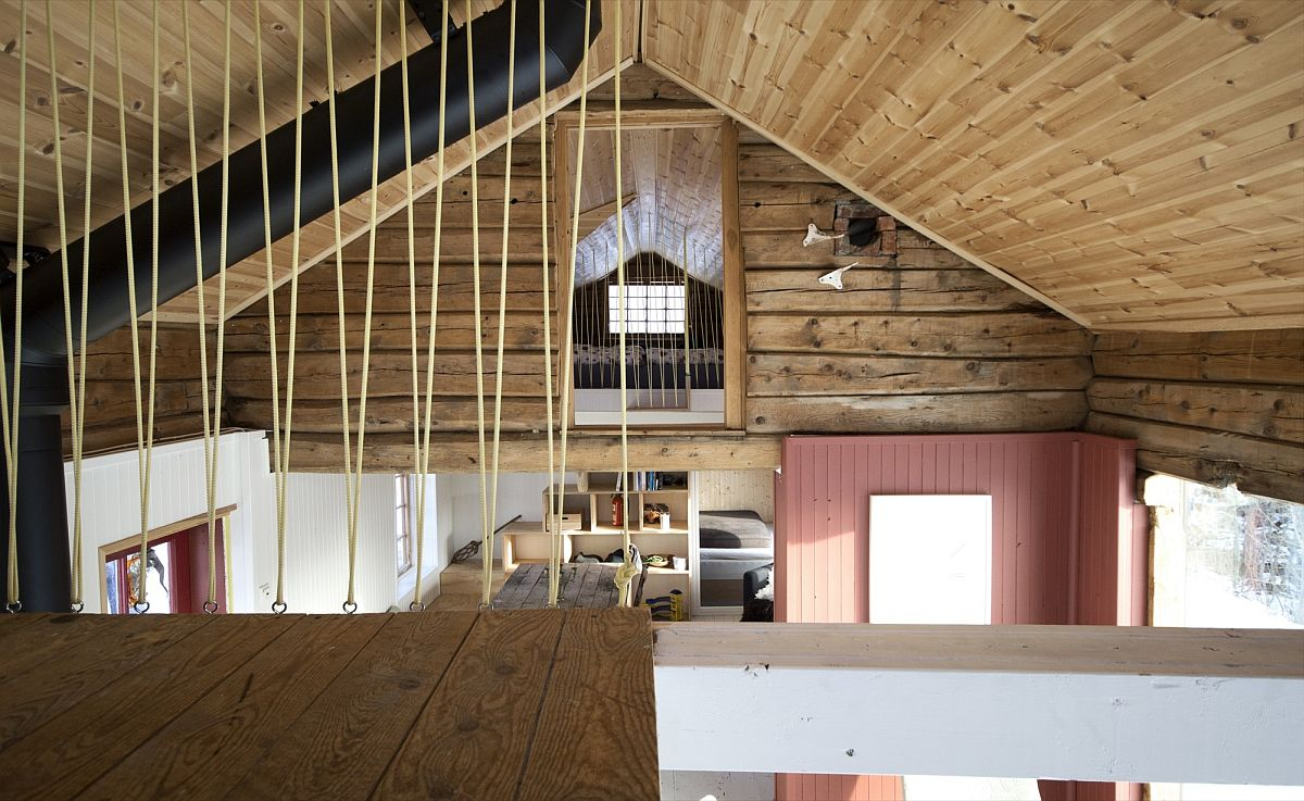 New ceiling offers additional insulation to the fabulous cabin