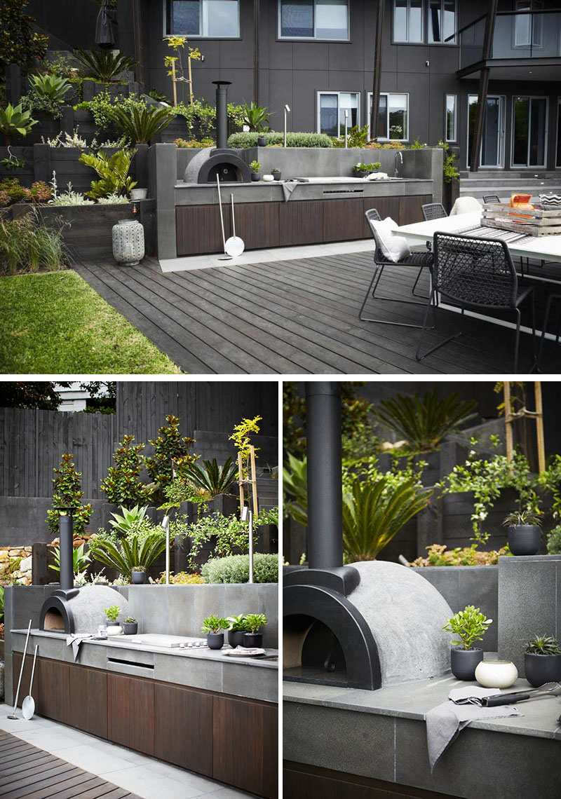 30 fresh and modern outdoor kitchens for Outdoor cooking areas designs