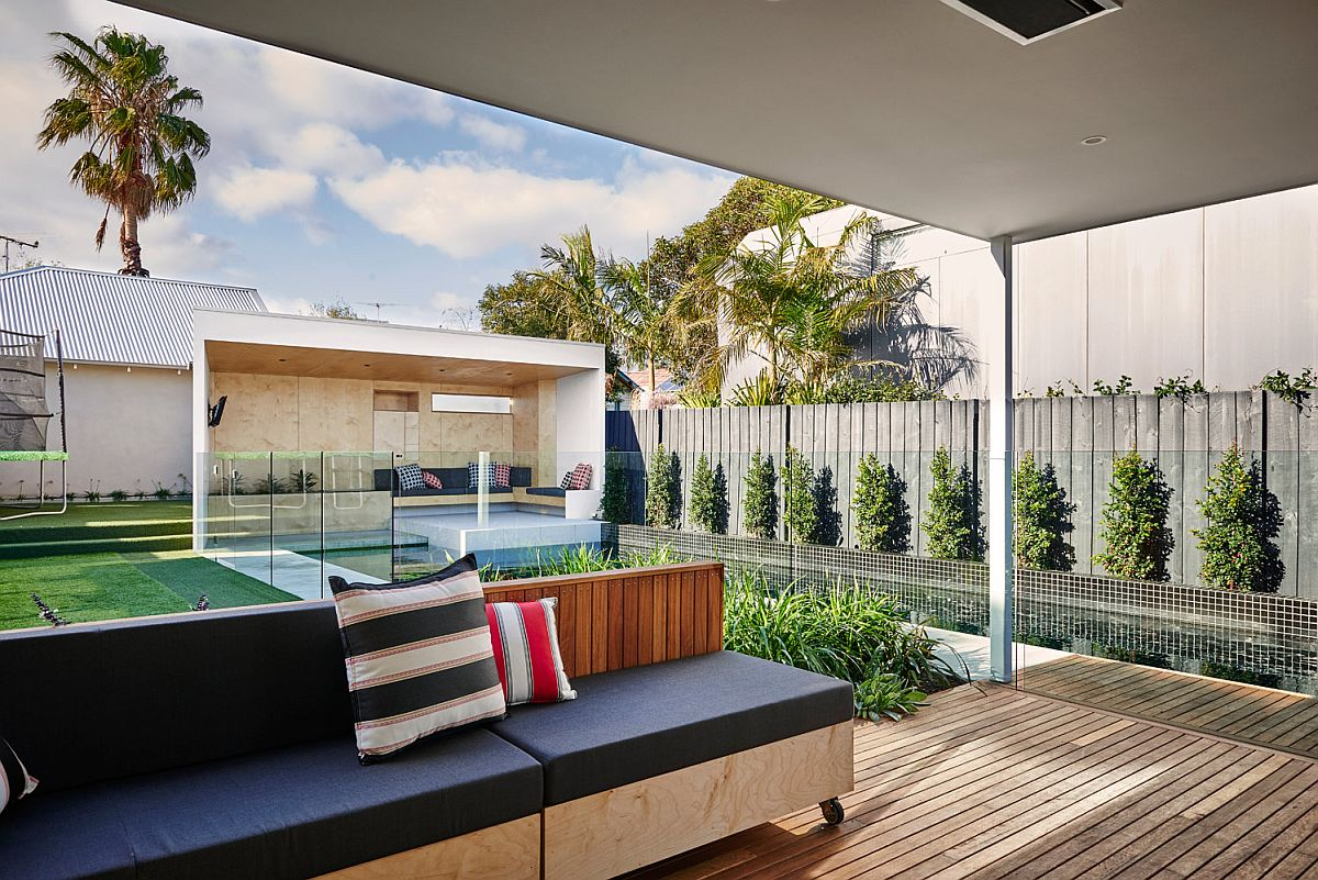 Outdoor living and poolside hangout bring outdoor living to Brighton home
