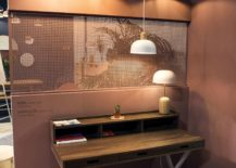 Pendants and smart work desk turn the corner into a productive zone 217x155 Space Savvy Design: Tiny Home Workstations that Pack Quite a Punch