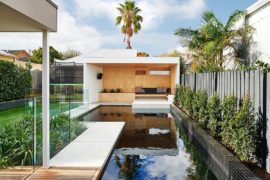 Brighton Bunker: This Plywood Clad Poolside Hangout Does it All!