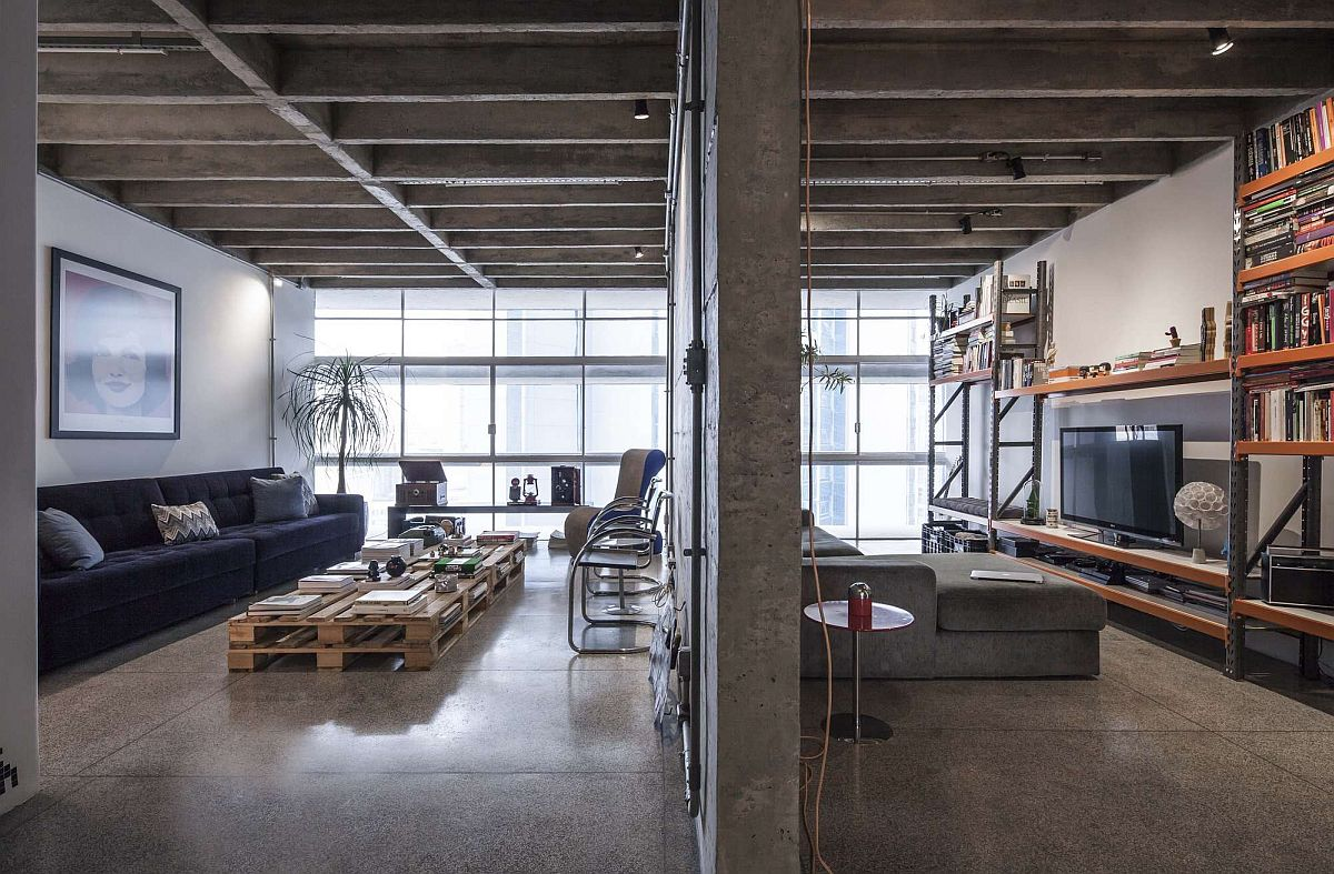 Multi Family Home Floor Plans Revamped Modern Industrial Apartment In The Iconic