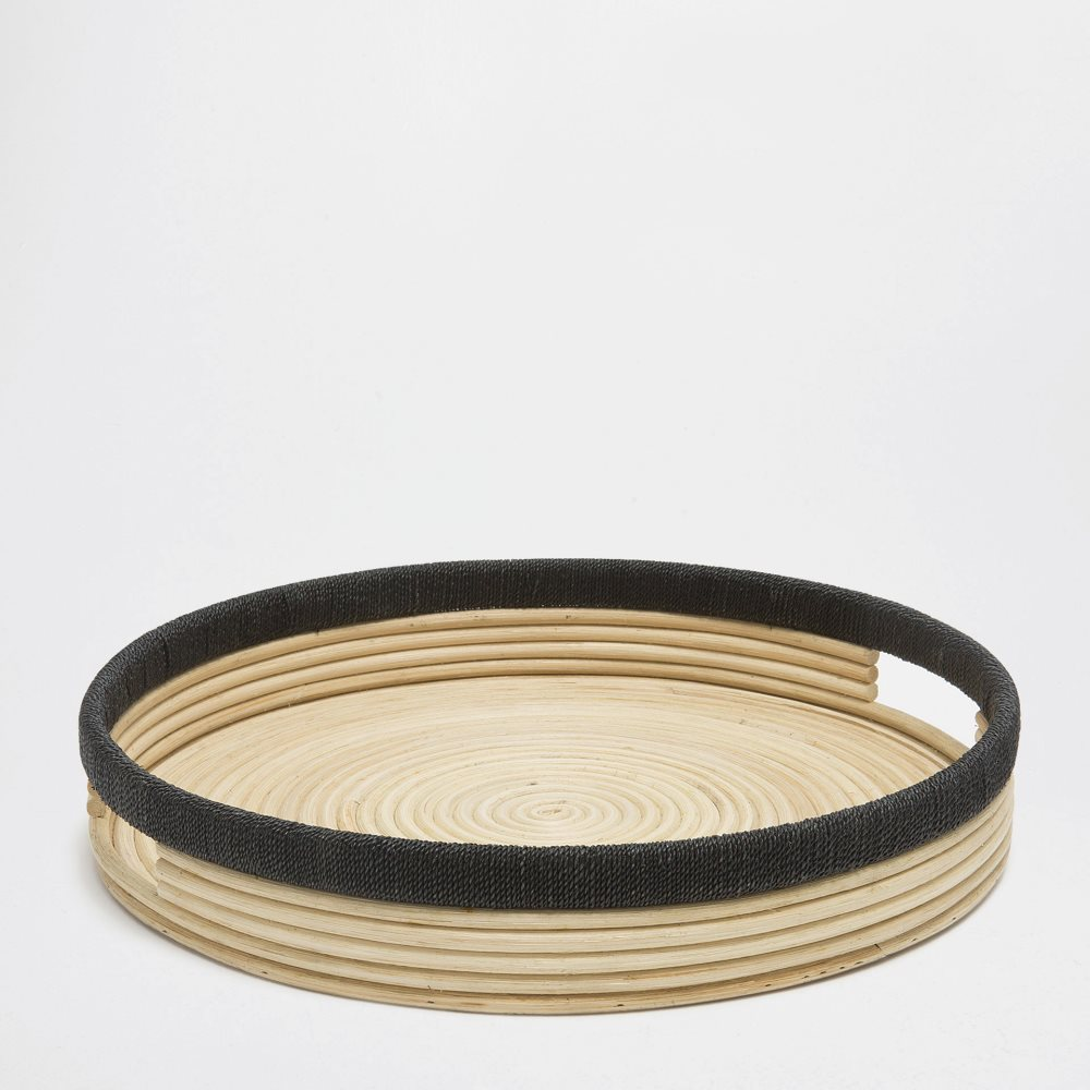 Round rattan tray from Zara Home