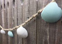 Seashell garland design 217x155 Mermaid and Unicorn Decor for Kids Rooms and Beyond
