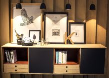 Series-of-small-pendants-in-black-provide-the-perfect-accent-lighting-for-the-lovely-display-217x155