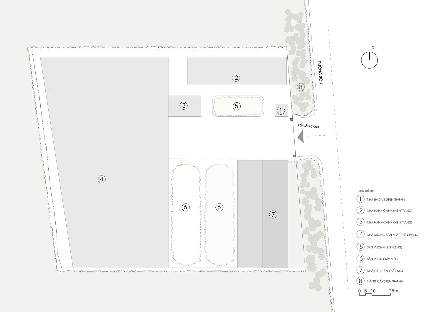 Site plan of the office in Vietnam