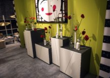 Slim-white-vases-coupled-with-fabulous-flowers-in-red-217x155