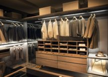 Spacious and stylish wlak in closet has it all 217x155 An Organized Wardrobe: 15 Space Savvy and Stylish Closet Ideas