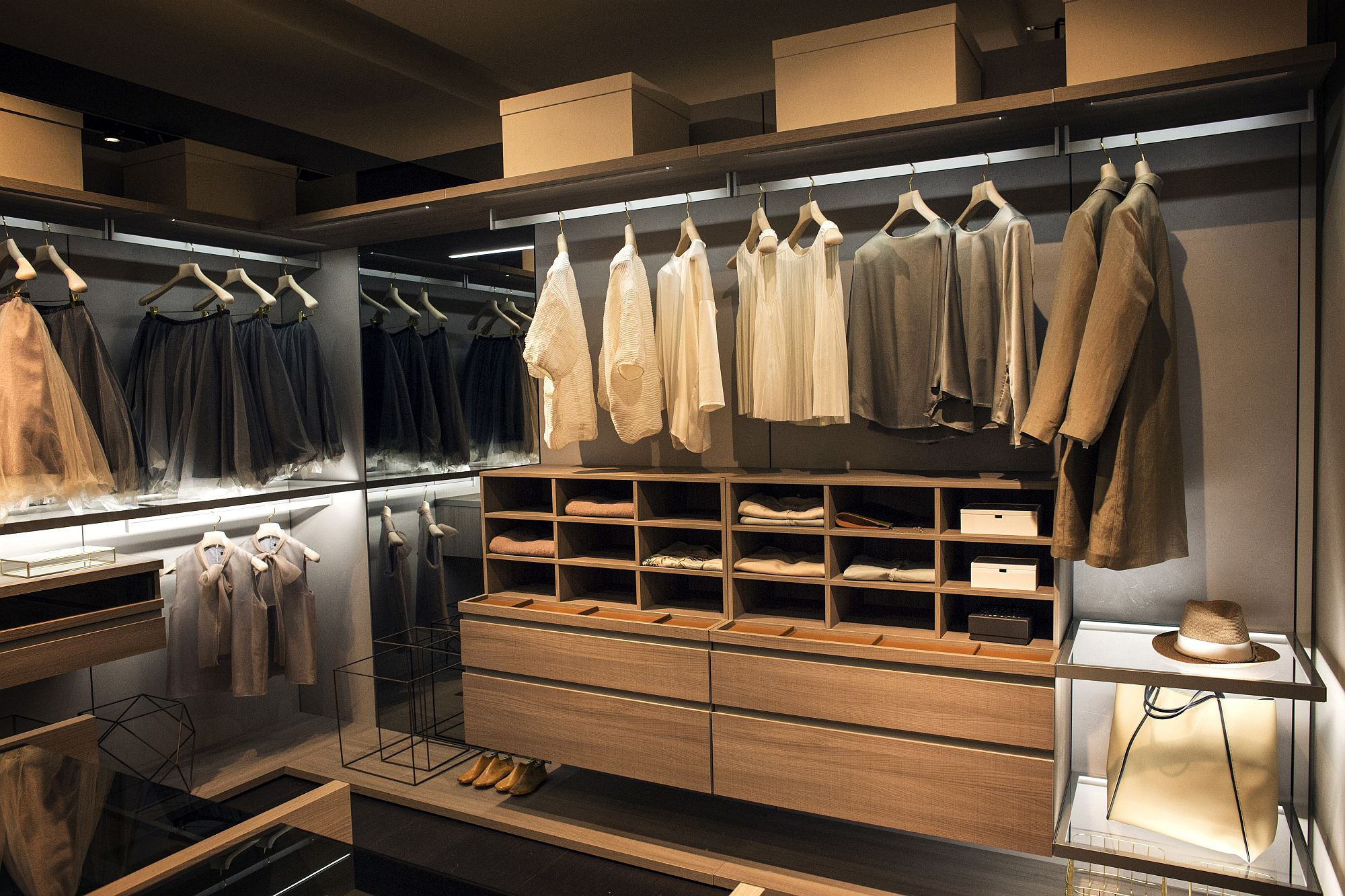 Spacious and stylish wlak-in closet has it all