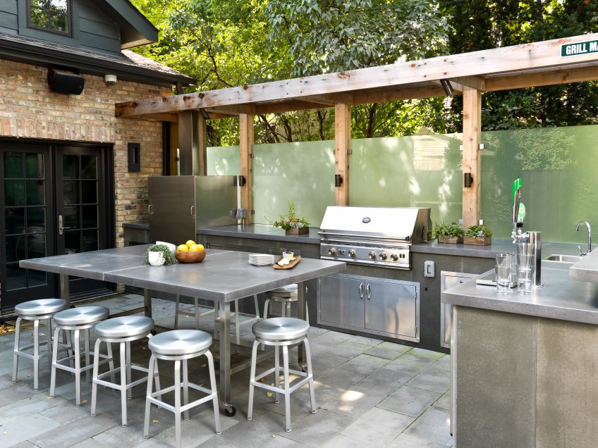 30 fresh and modern outdoor kitchens for Cuisine exterieure