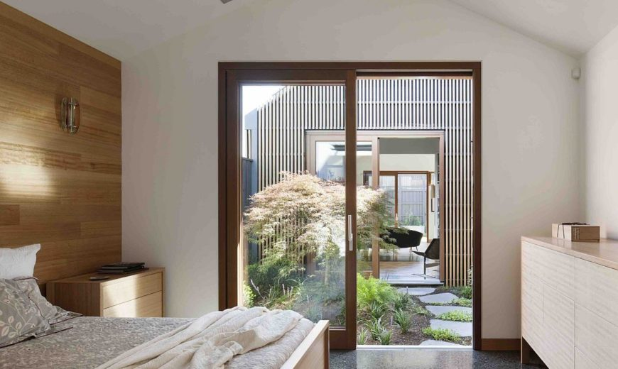 House in House: Gray Exterior Cloaks a Relaxing Modern Interior